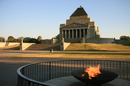 shrine of remembrance melbourne city