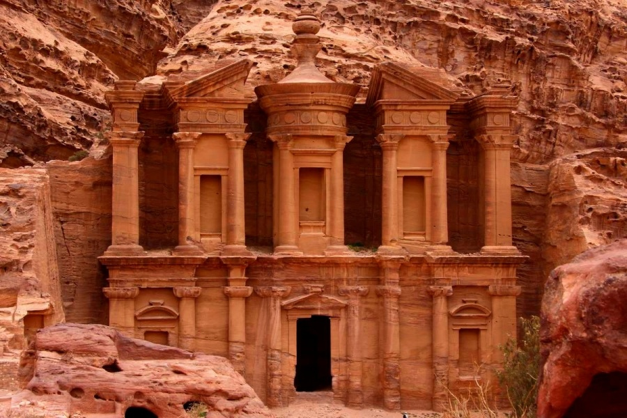 the petra monastery in Jordan