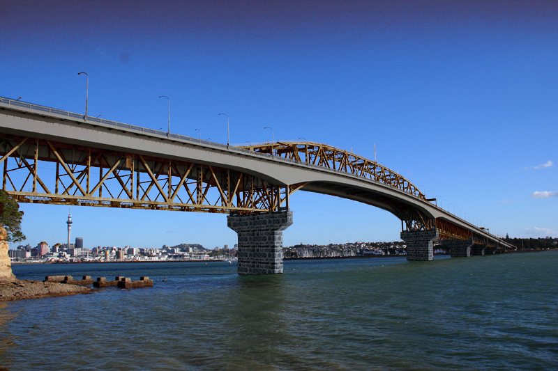 Auckland Harbour Bridge Copper and Gray
