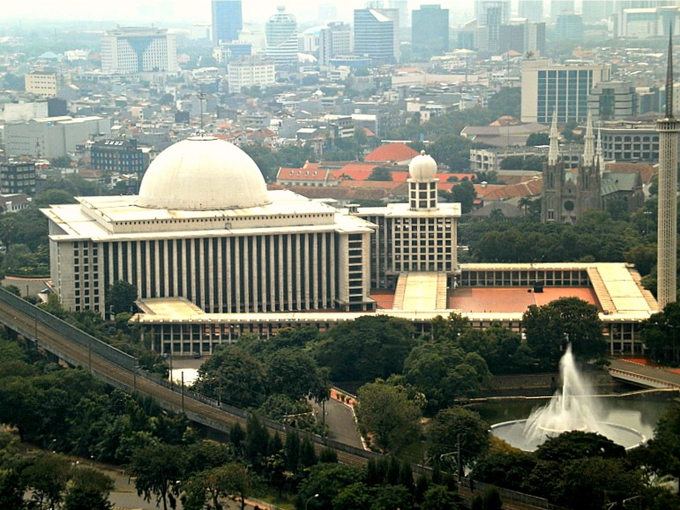 beautiful istiqlal mosque