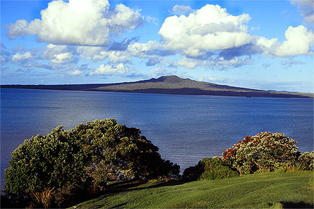 beautiful rangitoto island