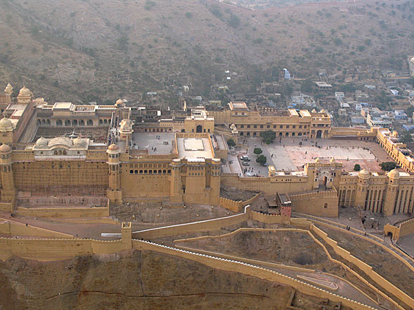 aerial view of agra fort