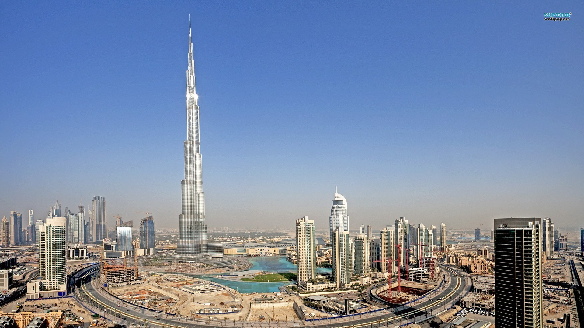 aerial view of burj khalifa dubai