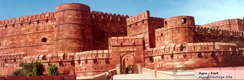 agra fort, agra in india