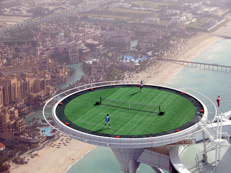 burj al arab tennis court