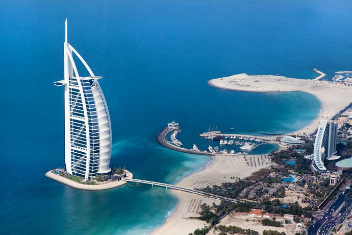 burj al arab in Dubai, extremely beautiful exterior