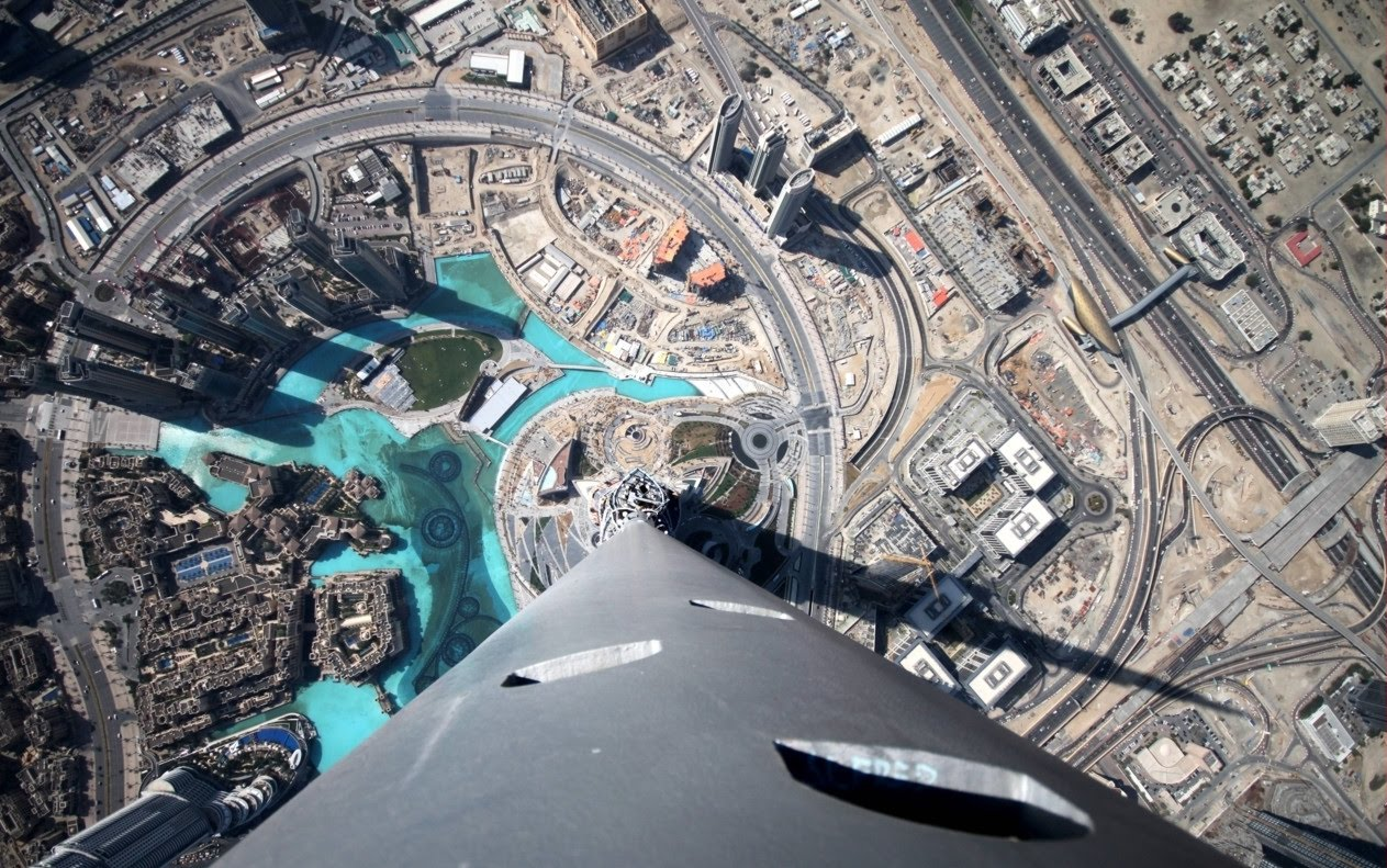 burj khalifa view from the top