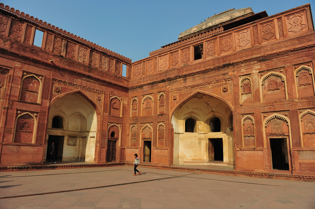 inside of agra fort