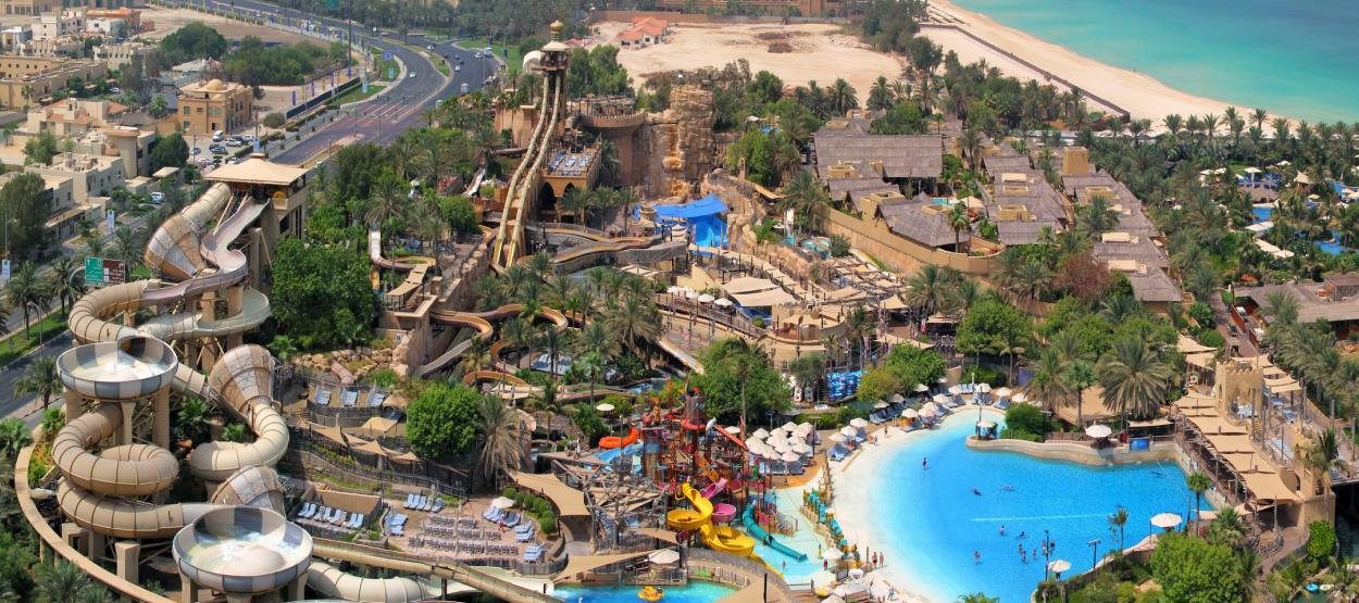 aerial view of wild wadi water park