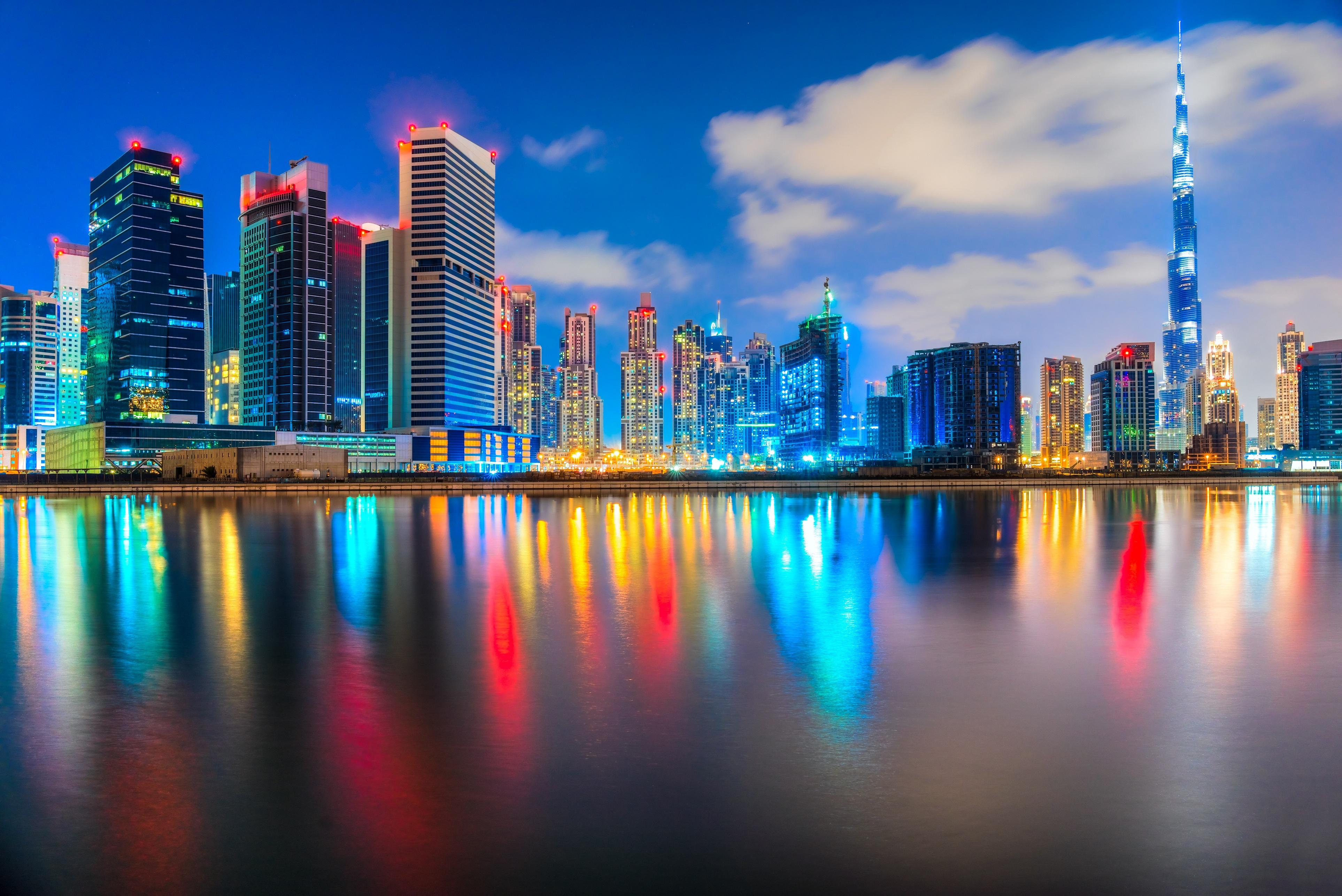 beautiful buildings at night