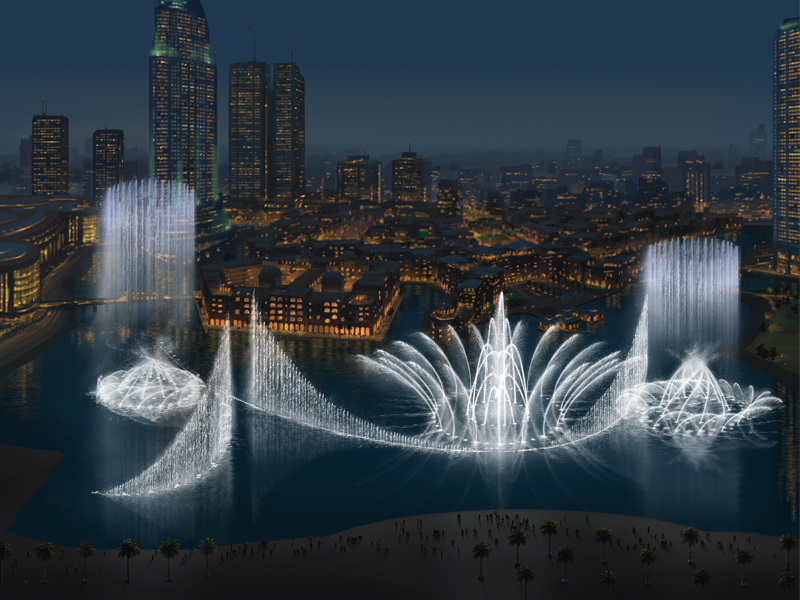 beautiful dancing of dubai fountain