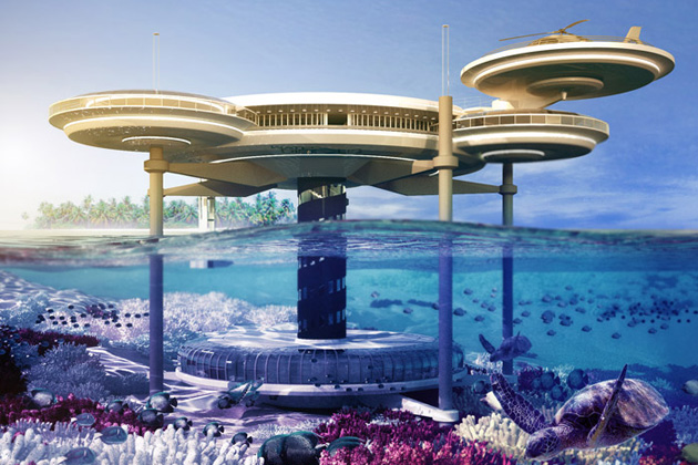 beautiful image of Dubai Underwater Hotel of exterior