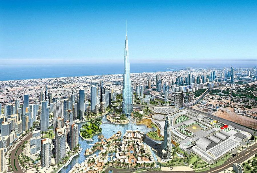 downtown dubai with burj khalifa