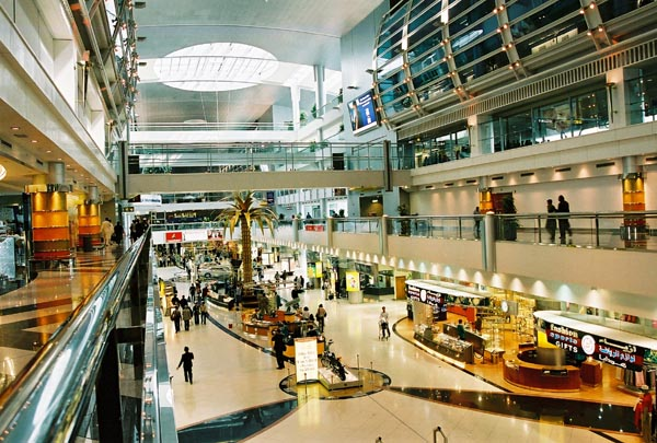 inside of dubai international airport