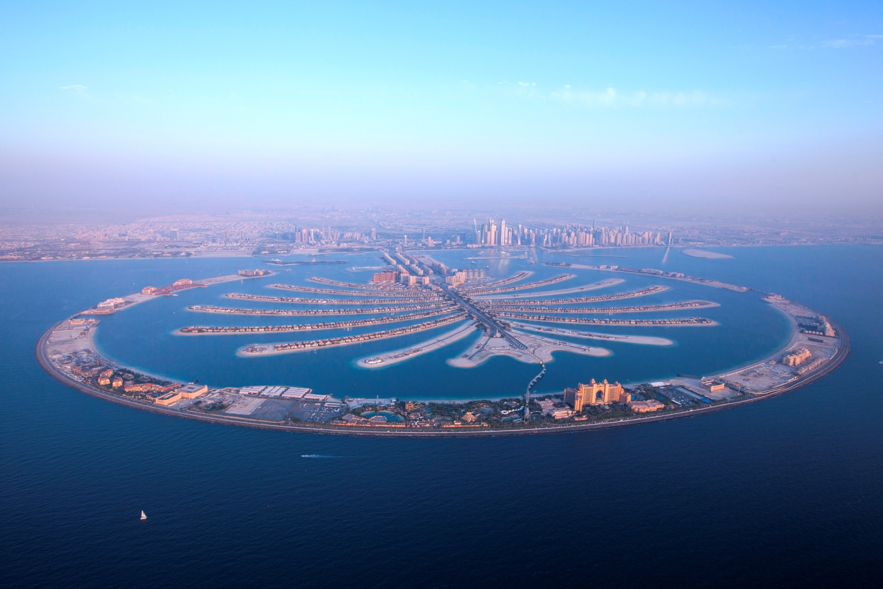 palm jumeirah from the front