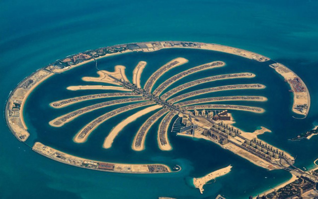 very beautiful view of palm jumeirah