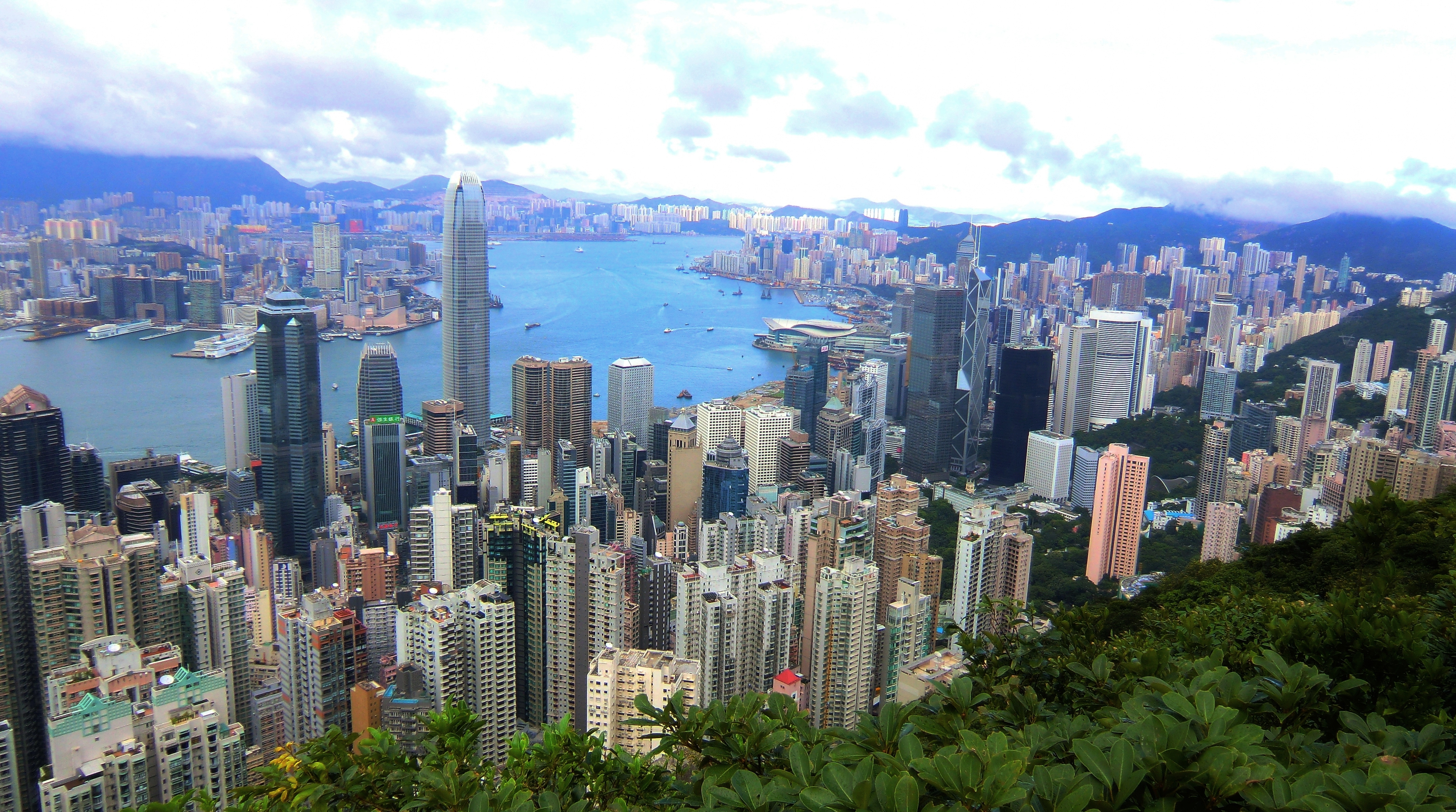 victoria peak view from top