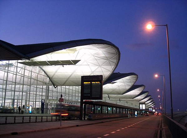 exterior of hong kong international airport