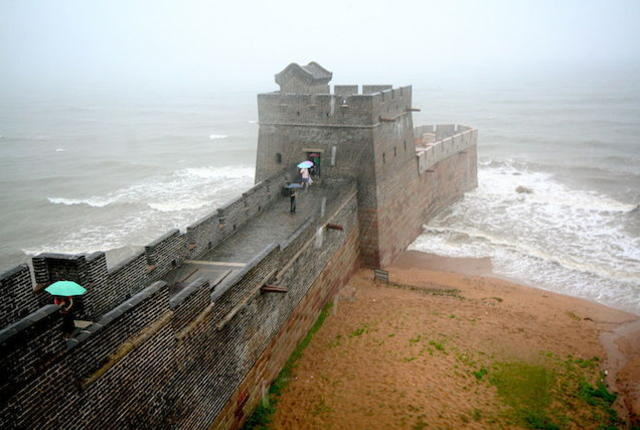 great wall of china end