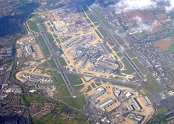 heathrow airport from the top