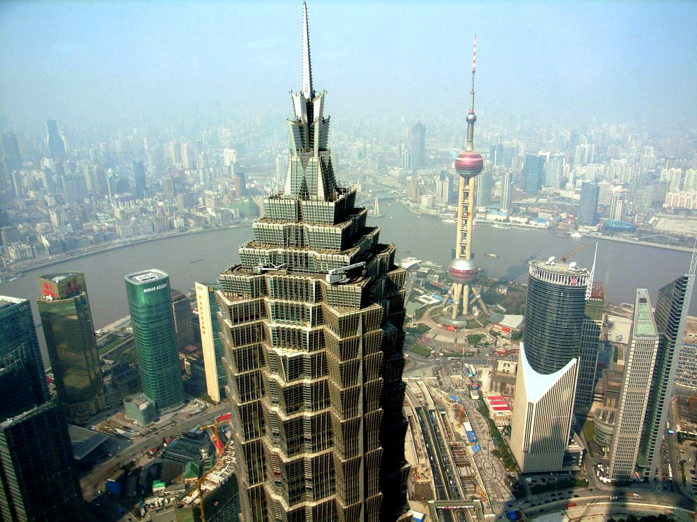 jin mao tower from the top