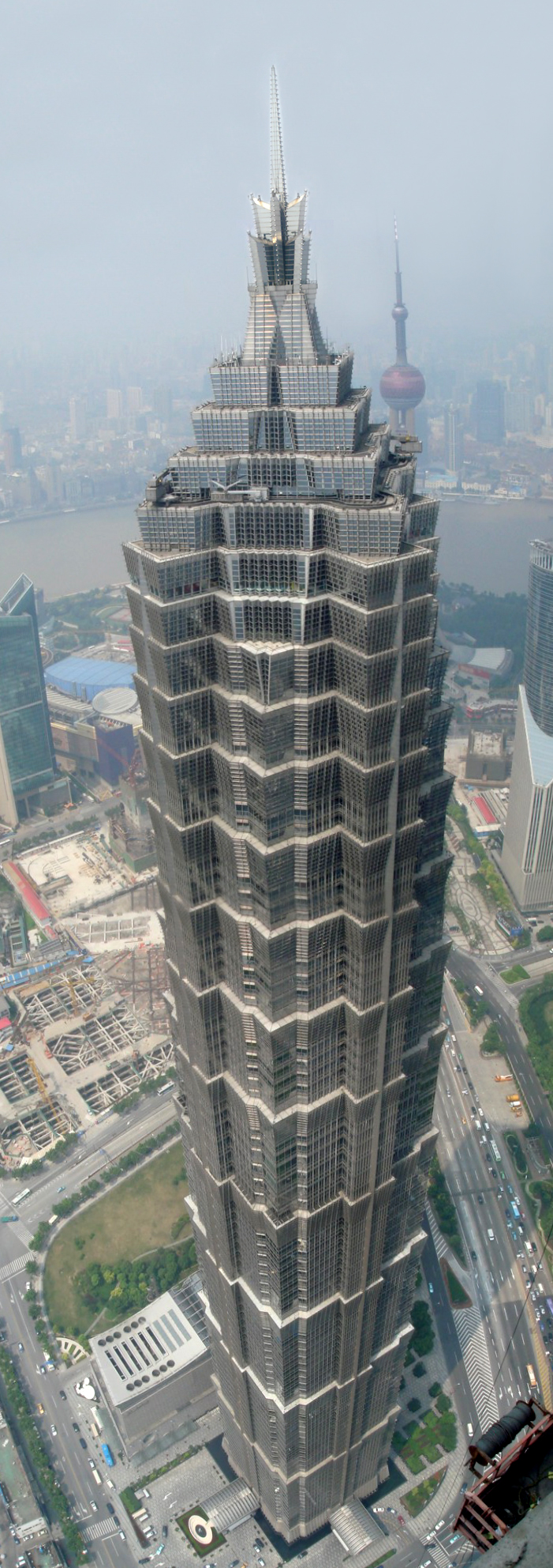 sky view of jin mao tower