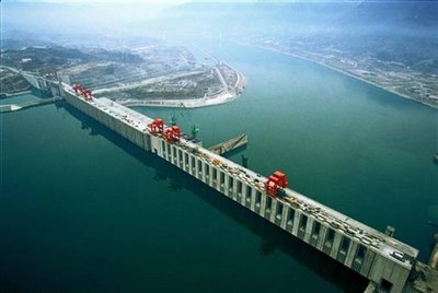 three gorges dam view