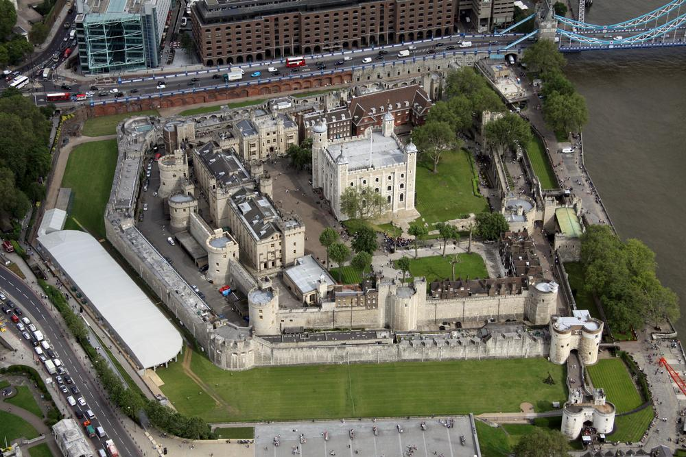 Areil view of Tower of London