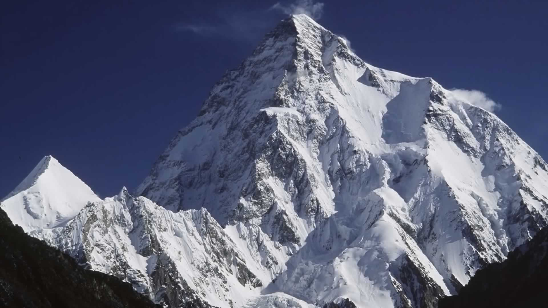 K2 coverd with snow