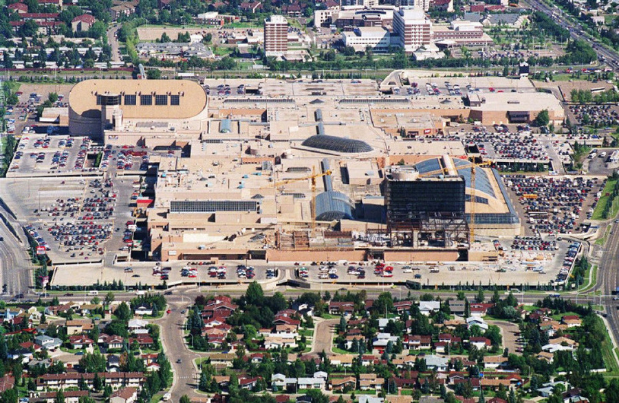 ariel view of west edmonton mall