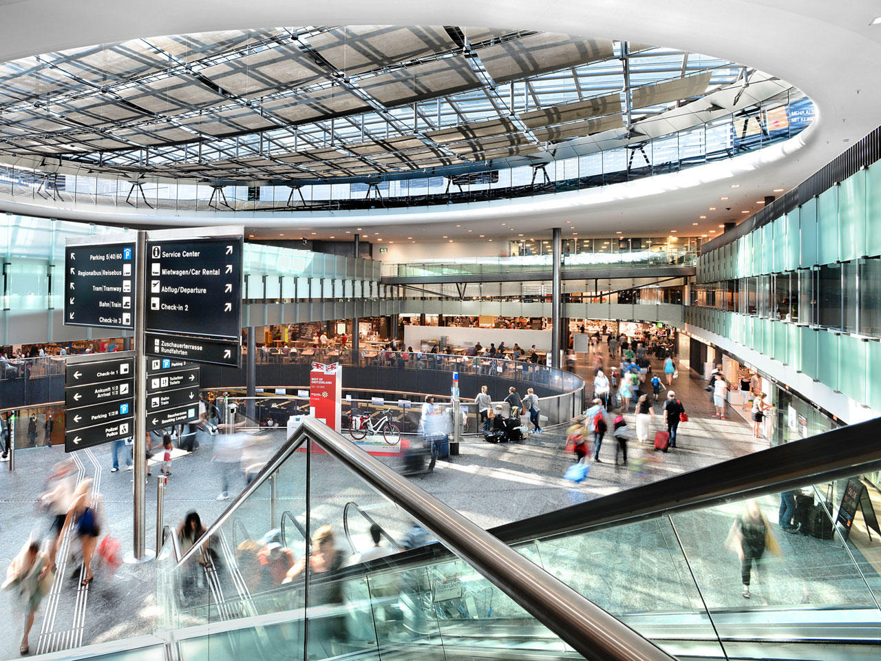 interior of zurich airport