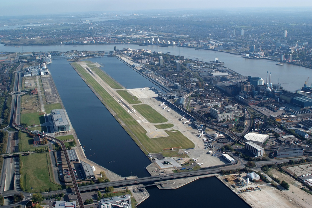 runway at London City Airport