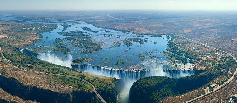 Victoria Falls bird's eye view