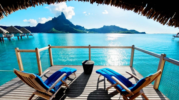 amazing view of bora bora