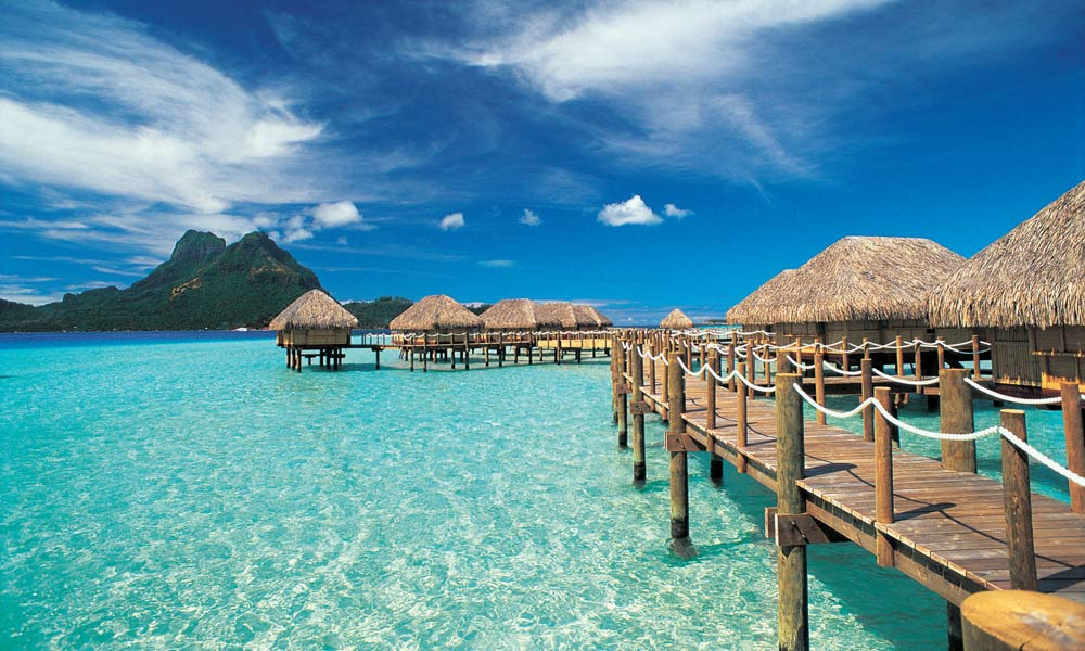 beaches of bora bora