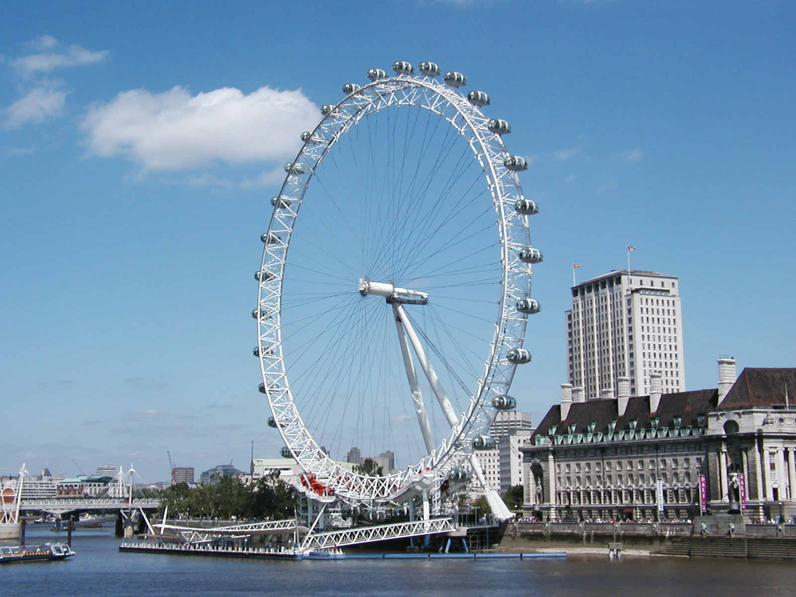 london eye from side