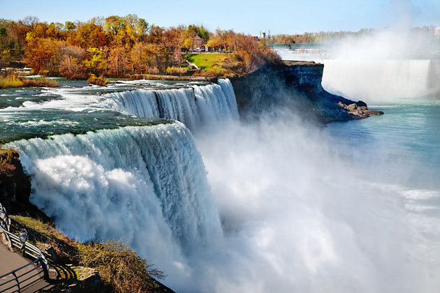 niagara falls, the second largest water fall in the world