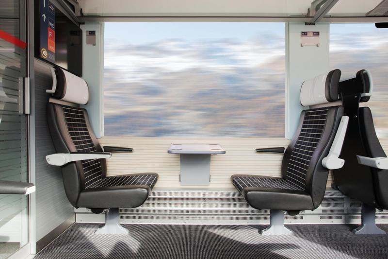 Bernina Express (Switzerland, Italy) train car