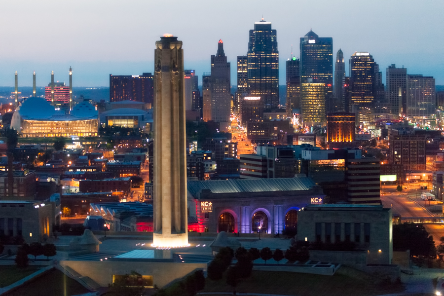 Downtown Kansas City Skyline Aerial